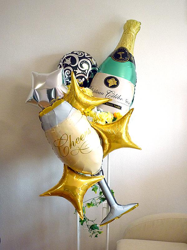 富山県高岡市 バルーンスタンド&花 開店1周年のお祝い